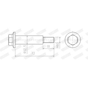 Bolt, exhaust system with OEM Number 854980