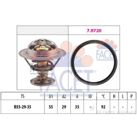 Thermostat, coolant D1: 55mm, D2: 29mm with OEM Number 04L121026N