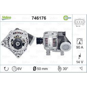 Lichtmaschine Rippenanzahl: 6 mit OEM-Nummer 1231 1432 976