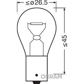 Bulb, indicator 12V 21W, PY21W, BAU15s 7507NA FORD FOCUS, FIESTA, MONDEO