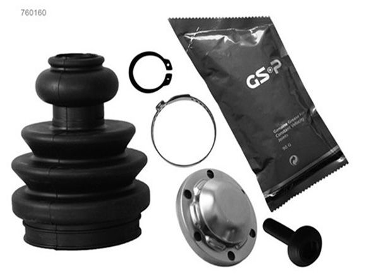 GSP  760160 Faltenbalgsatz, Antriebswelle Höhe: 106mm, Innendurchmesser 2: 56,5mm, Innendurchmesser 2: 25mm