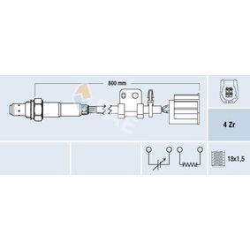 Lambdasonde Kabellänge: 800mm mit OEM-Nummer LF6818861C