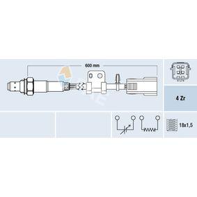 Lambdasonde Kabellänge: 600mm mit OEM-Nummer LF4K-18-861B