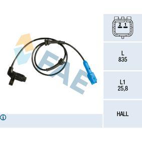 Sensor, Raddrehzahl Pol-Anzahl: 2-polig mit OEM-Nummer 4545 99