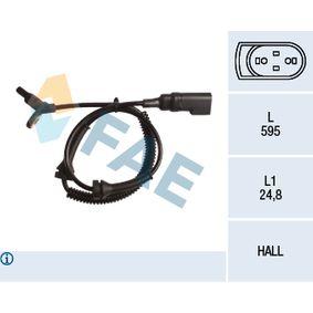 Sensor, Raddrehzahl Pol-Anzahl: 2-polig mit OEM-Nummer 4370 937