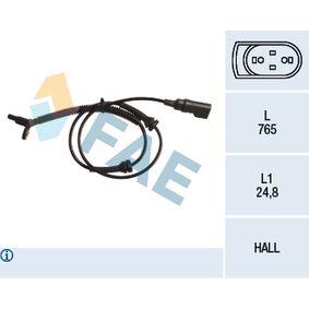 Sensor, Raddrehzahl Pol-Anzahl: 2-polig mit OEM-Nummer 1 151 951