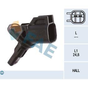 Sensor, Raddrehzahl Pol-Anzahl: 2-polig mit OEM-Nummer BV6T-2C204-FA