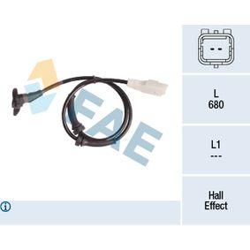 Sensor, Raddrehzahl Pol-Anzahl: 2-polig mit OEM-Nummer 96.353.847.80