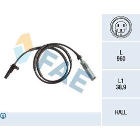 Sensor, Raddrehzahl Pol-Anzahl: 2-polig mit OEM-Nummer 34526764610
