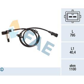 Sensor, Raddrehzahl Pol-Anzahl: 2-polig mit OEM-Nummer 4545.54