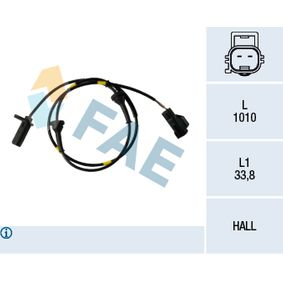 Sensor, Raddrehzahl Pol-Anzahl: 2-polig mit OEM-Nummer 30773738