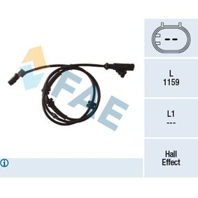 Sensor, wheel speed Number of Poles: 2-pin connector with OEM Number 47910 AX600
