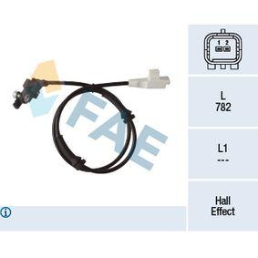 Sensor, Raddrehzahl Pol-Anzahl: 2-polig mit OEM-Nummer 9658420780