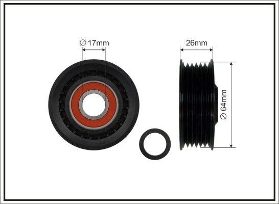 CAFFARO  80-98 Spannrolle, Keilrippenriemen Breite: 22,5mm