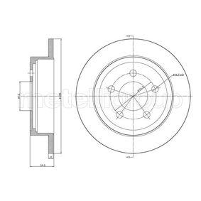 CIFAM  800-1017C Bremsscheibe Bremsscheibendicke: 12,0mm, Lochanzahl: 5, Ø: 284,9mm