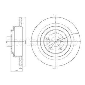 Bremsscheibe Bremsscheibendicke: 18,0mm, Lochanzahl: 5, Ø: 289,8mm mit OEM-Nummer 26700-AE070
