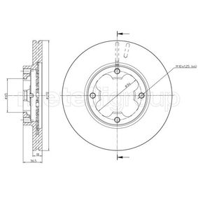 CIFAM Brake disc kit Vented