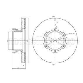 Bremsscheibe Bremsscheibendicke: 30,0mm, Lochanzahl: 6, Ø: 304,0mm mit OEM-Nummer 668 421 01 12