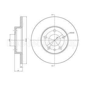Bremsscheibe Bremsscheibendicke: 11,0mm, Lochanzahl: 5, Ø: 240,5mm mit OEM-Nummer 71 739 571