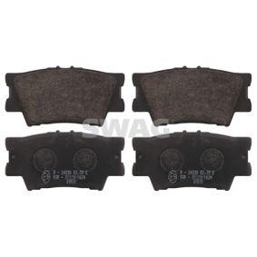 Bremsbelagsatz, Scheibenbremse Breite: 49,2mm, Dicke/Stärke 1: 15,5mm mit OEM-Nummer 04466-YZZE8