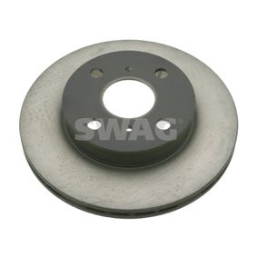 SWAG Brake disc kit Front Axle, Internally Vented, 37