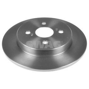 SWAG Спирачни дискове задна ос, плътен, с покритие