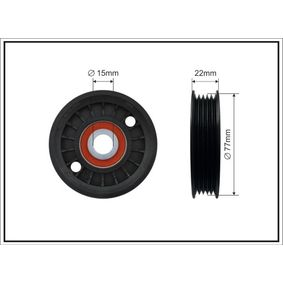 Spannrolle, Keilrippenriemen Breite: 20mm mit OEM-Nummer 028 145 278J