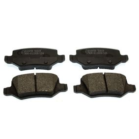 Brake Pad Set, disc brake Height: 41,51mm, Thickness: 14,3mm with OEM Number A16 842 00 420