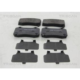 TRISCAN  8110 10606 Bremsbelagsatz, Scheibenbremse Breite: 109,7mm, Höhe: 69,2mm, Dicke/Stärke: 14,8mm