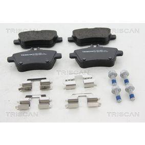 Bremsbelagsatz, Scheibenbremse Breite: 106,2mm, Höhe: 59,2mm, Dicke/Stärke: 18,5mm mit OEM-Nummer A 007 420 9420