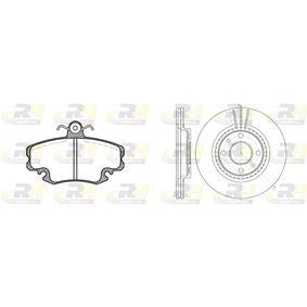 Renault Clio 2 1.5dCi (B/CB03) Bremsensatz ROADHOUSE Dual Kit 8141.06 (1.5dCi (B/CB03) Diesel 2003 K9K 702)