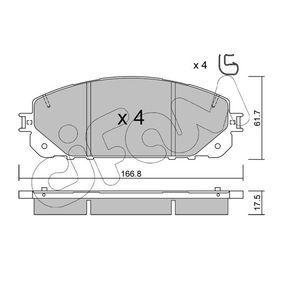 Bremsbelagsatz, Scheibenbremse Dicke/Stärke 1: 17,5mm mit OEM-Nummer 68212327AB