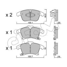Bremsbelagsatz, Scheibenbremse Art. Nr. 822-1039-0 120,00€