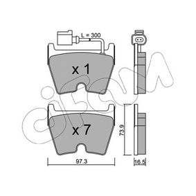 Brake Pad Set, disc brake Thickness 1: 16,5mm with OEM Number 8U0698151J