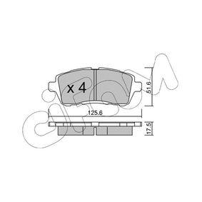 Brake Pad Set, disc brake 822-793-2 FIESTA 6 1.6 TDCi MY 2013