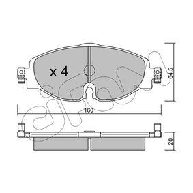 Kit de plaquettes de frein, frein à disque Épaisseur 1: 20,0mm avec OEM numéro 5Q0 698 151D