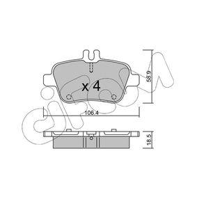 Bremsbelagsatz, Scheibenbremse Dicke/Stärke 1: 18,5mm mit OEM-Nummer A007 420 94 20