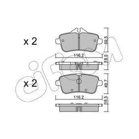 Bremsbelagsatz, Scheibenbremse Höhe 2: 49,7mm, Dicke/Stärke 2: 18,5mm mit OEM-Nummer A006 420 34 20