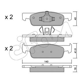 Brake Pad Set, disc brake 822-975-0 Clio 4 (BH_) 1.5 dCi 90 MY 2019