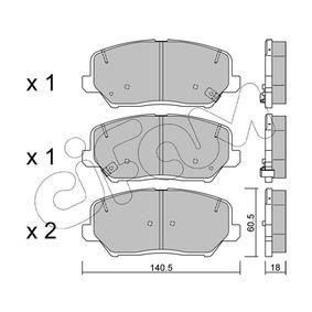 Bremsbelagsatz, Scheibenbremse Dicke/Stärke 1: 18,0mm mit OEM-Nummer 581012TA20