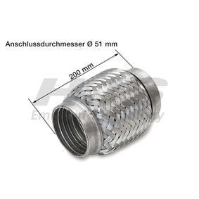 Flexrohr, Abgasanlage Innendurchmesser: 50mm mit OEM-Nummer 8 54 559