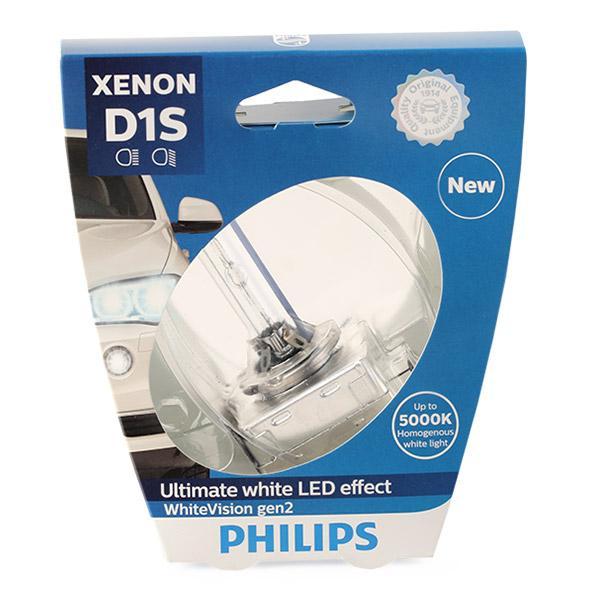 Glühlampe, Fernscheinwerfer 85415WHV2S1 PHILIPS D1S in Original Qualität