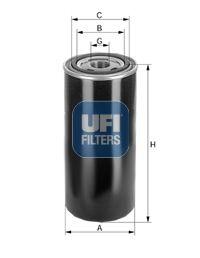 UFI  86.004.00 Hydraulikfilter, Automatikgetriebe Höhe: 176, 176,0mm