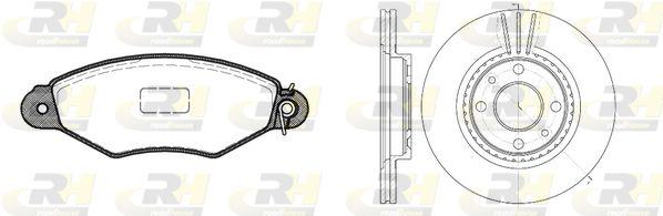 ROADHOUSE Dual Kit 8643.05 Bremsensatz, Scheibenbremse Bremsscheibendicke: 20,6mm
