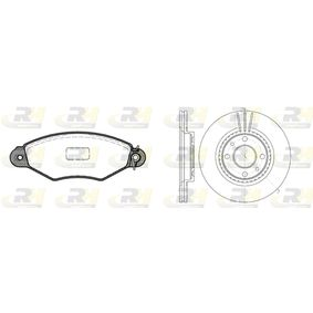 Renault Kangoo kc01 1.2 (KC0A, KC0K, KC0F, KC01) Bremsensatz ROADHOUSE Dual Kit 8643.05 (1.2 Benzin 2019 D7F 726)