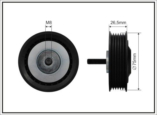 GA35407 SNR V-RIBBED BELT TENSIONER PULLEY G NEW OE REPLACEMENT