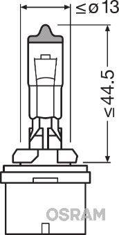 Glühlampe, Hauptscheinwerfer 880CBI OSRAM H27W1 in Original Qualität