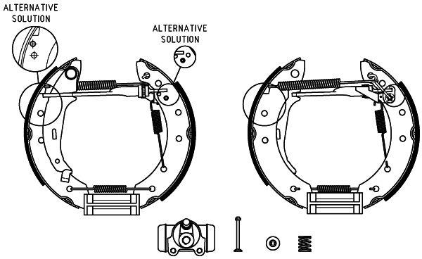 HELLA Shoe Kit Pro 8DB 355 004-431 Bremsensatz, Trommelbremse