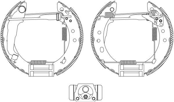 HELLA Shoe Kit Pro 8DB 355 004-571 Bremsensatz, Trommelbremse