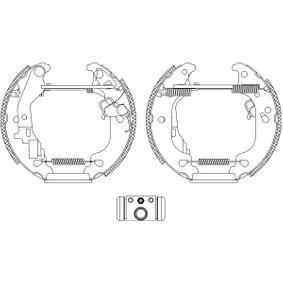 Brake Set, drum brakes 8DB 355 004-751 PUNTO (188) 1.2 16V 80 MY 2004